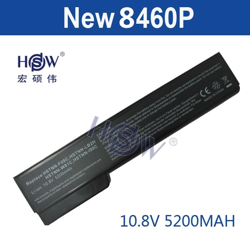 HSW Laptop Laptop עבור HP EliteBook 8460p 8470p 8560p 8460w 8470w 8570p 6460b 6470b 6560b 6570b 6360b 6465b 6475b 6565b סוללה