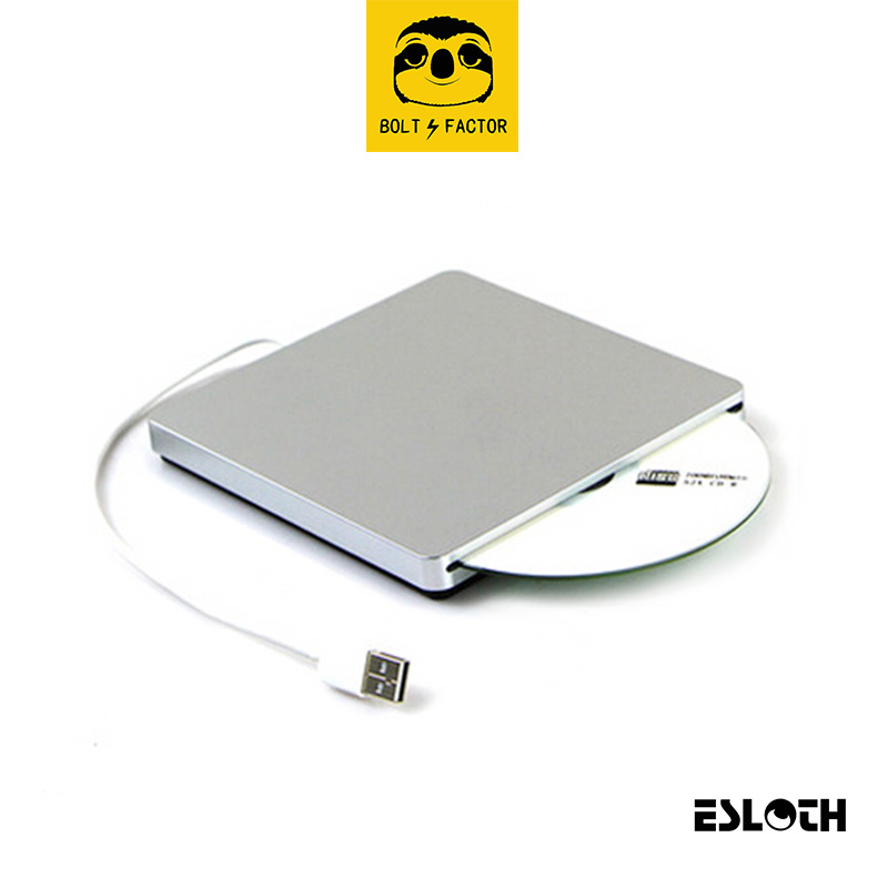 ESLOTH R7 Optical Drives Cases Portable USB CD DVD-Rom SATA External Case Slim for Macbook Air Laptop PC Supports DVD Burning 50 pin jae cd rom dvd rom to ide adapter laptop notebook for all brand cdrom dvd dvdrw player