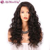 360 Lace Wig With Baby Hair Brazilian Remy Curly Human Hair Wigs 4inch Light Brown Medium Cap 150% Density AliBlissWig