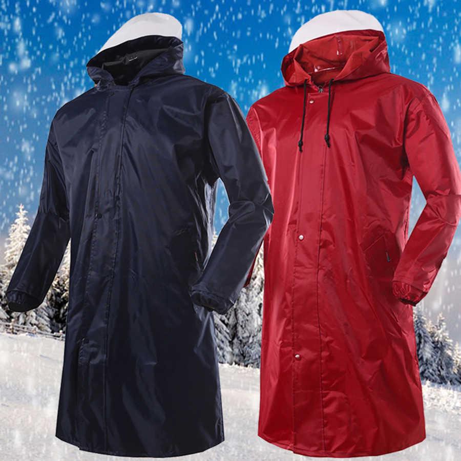 Пеший Туризм длинный дождевик для мужчин непромокаемые уличные пончо синяя куртка женщина дождевик человек женские куртки Pluie плащи с Hooded ш