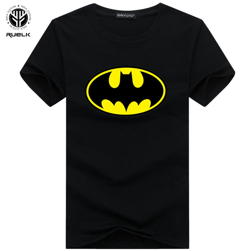 New Arrive Fashion Cartoon Batman T Shirts Men O Neck Short Sleeve Men Tshirt Tops Drop Shipping Summer Fashion Brand Tee Shirt