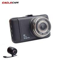 New 3.0 CAR DVR CAMERA T659 Dual Lens Camera For Driving Recording Car Detector Dual Dvr Camera 1080P Full HD 150 Degree angle