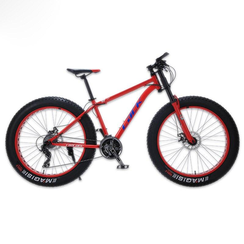FALTA Velocidade Shimano Freios A Disco Mountain Bike Steel Frame FatBike 24 26