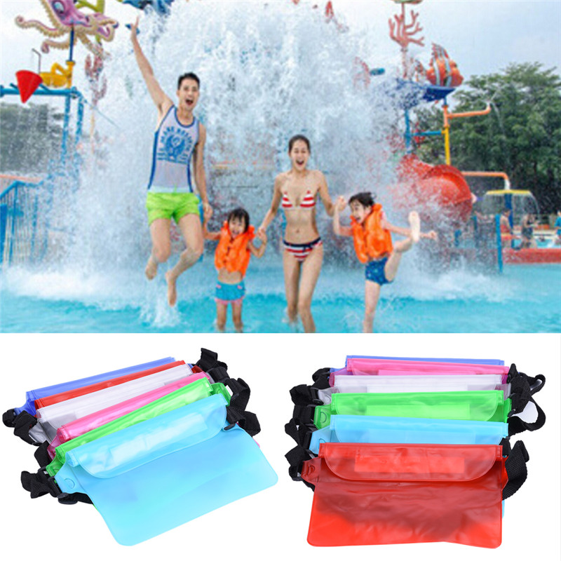 1PCS Transparent Waist Packs Casual Travel Waist Bag PVC Waterproof Jelly Fanny Pack Bags Small Unisex Summer Beach Bag