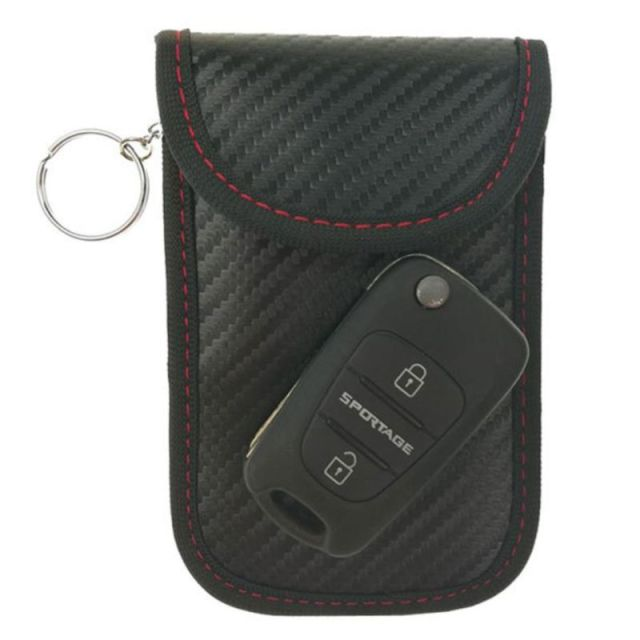Hot New Men Women Portable Key Fob Signal Blocking Cage Protector RFID  Blocking Mini Car Keys Wallet Bag Carbon Fiber Organizer 83c0c74eee