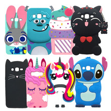 For Samsung Galaxy J3 J310 Case Cover Coque 2015 3D Unicorn Cat Silicon 2016 J320 J320F