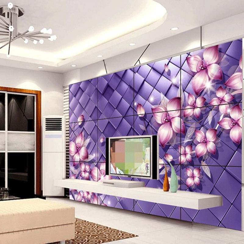 Beibehang Papel De Parede Simple Modern Room Wall Tile Backdrop Purple Flowers Fantasy Mural New Culture Wallpaper Paper In Wallpapers From Home