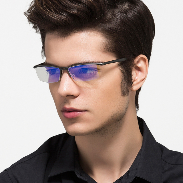 Aluminum Magnesium Anti Blue Laser Fatigue Radiation-resistant Men's Optical Eyeglasses Glasses Frame Oculos de grau Eyewear 130