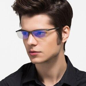 Image 1 - KATELUO 2020 alüminyum bilgisayar gözlük Anti mavi ışık yorgunluk radyasyon dayanıklı erkek gözlük optik gözlük çerçevesi 130