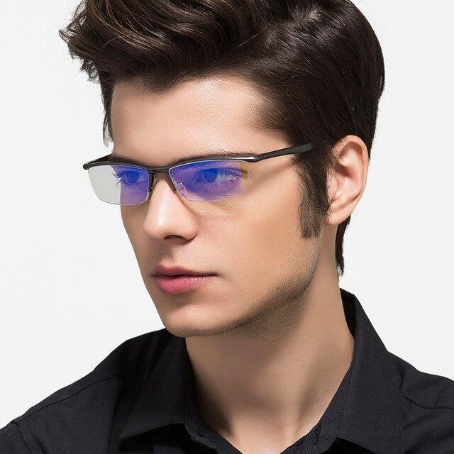KATELUO 2020 alüminyum bilgisayar gözlük Anti mavi ışık yorgunluk radyasyon dayanıklı erkek gözlük optik gözlük çerçevesi 130
