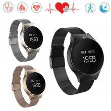 Круглый Экран Горячие A68 Smart Watch браслет Bluetooth 4.0 смарт-браслет сердечный ритм оксиметр измерять кровяное давление для iOS и Android