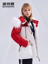 BOSIDENG x تشغيل رجل جمع الشتاء الأبيض النقي رشاقته سترة نسائية ثقيلة أسفل معطف في الهواء الطلق مقاوم للماء B80142602DS