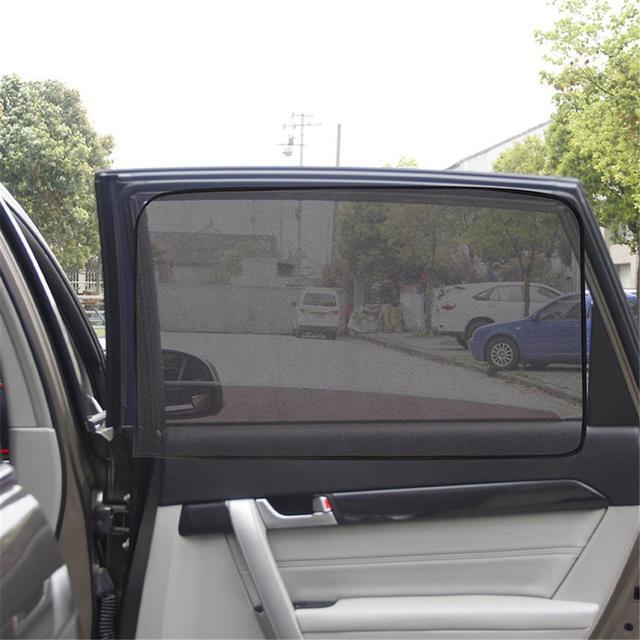 Magnetische Auto Gordijn Cover auto zon schaduw Zon Blokkeren Uv bescherming Auto Gordijn Side Blokkeren Zonnescherm Gordijn Venster Film