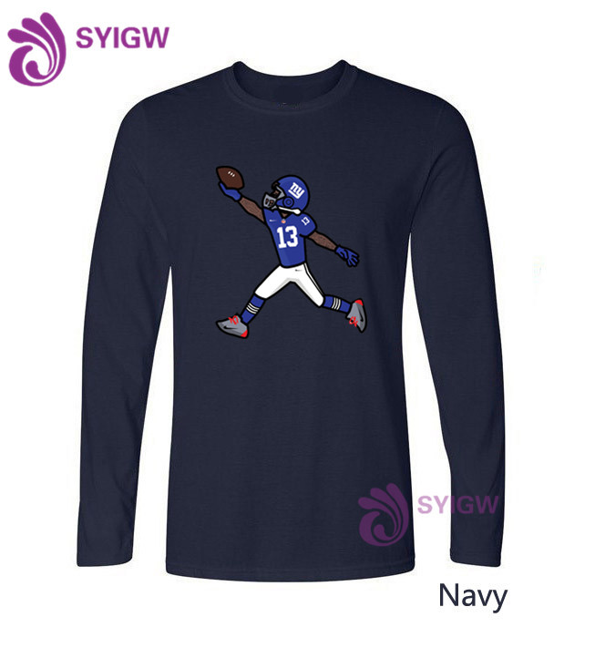 uk availability 48a08 e70c9 New Summer Fashion Odell Beckham Jr Design long sleeve T Shirt Men's Cool  Design High Quality Tops Custom Hipster Tees 1205 20-in T-Shirts from Men's  ...