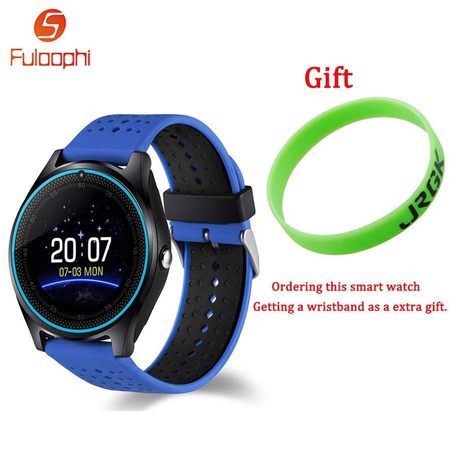 Fuloophi V9 Bluetooth Smart Watch With Camera Smartwatch Pedometer Health Sport Clock Hours Men Women WristWatch