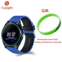 V9 Bluetooth Relógio Inteligente Com Câmera Fuloophi Smartwatch Pedômetro Saúde Esporte Horas de Relógio Das Mulheres Dos Homens Relógio de Pulso Para Android