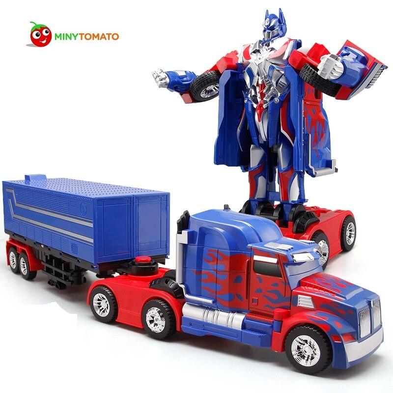 Livraison gratuite modèles de sport de luxe déformation Robot Transformation télécommande RC voiture jouets enfants cadeau TT669G