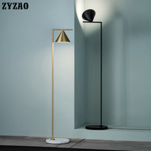 Italian Nordic Luxury Standing Lamp Study Bedroom Simple Modern Gold Vertical Floor Lamps for Living Room Home Decor Stand Light