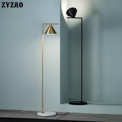 Italiano nordic luxo lâmpada de pé estudo quarto simples e moderno ouro vertical lâmpadas assoalho para sala estar decoração casa suporte luz