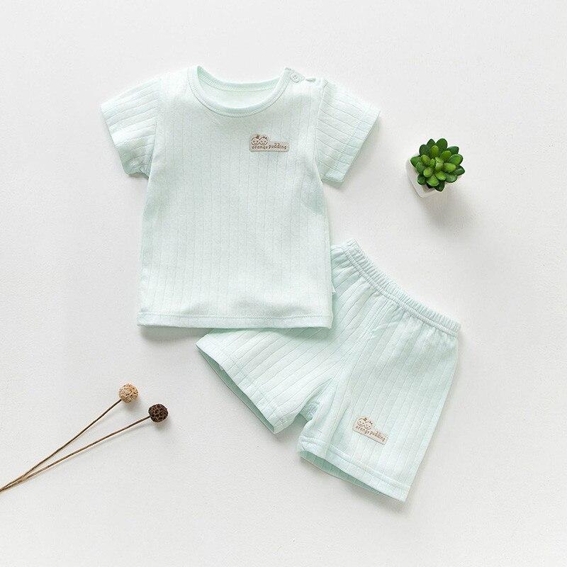 Katoenen Babykleding Set Zomer Baby Meisjeskleding Korte Mouw Baby - Babykleding - Foto 1