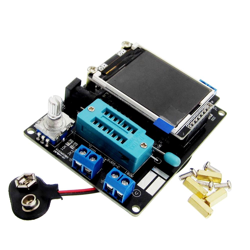LCD GM328A Transistor Tester diodo capacitancia ESR frecuencia del voltaje PWM generador de señal de onda cuadrada SMT soldadura