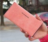 2014 Ultra Thin Women Wallets Clutch Soft Nubuck Leather Multi Card Holder Long Design Wallet Fashion