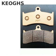Sale KEOGHS High Quality Copper Base Motorcycle Brake Pads For Adelin Adl6/adl06 6 Piston Brake Calipers Free Shipping