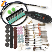 Tungfull Dremel Style Electric Rotary Tool Variable Speed Mini Drill With Flexible Shaft And 192PC Accessories