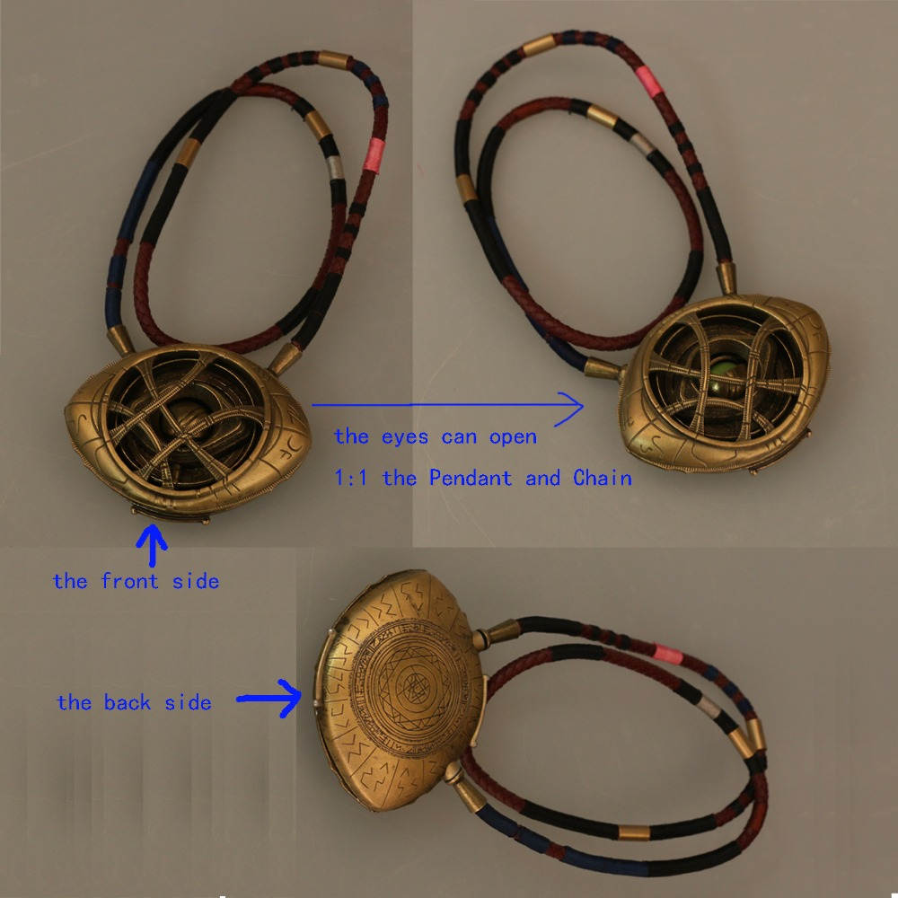 Doctor Strange Necklace Eye of Agamotto Necklace Eyes Can Open Cosplay Props New