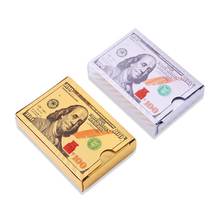 Dollar Playing Cards Waterproof Plastic Poker Cards Collection Gift Card Game Durable Plastic Cards (2PACKS) theory11 bicycle guardians playing cards original poker cards for magician collection card game