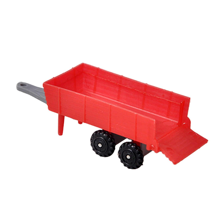 Besegad 4 Pcs Mini Lucu Trailer Mobil Paduan Traktor Pertanian Mainan Mobil Klasik Kendaraan Bermain Set untuk Anak-anak Anak Laki-laki Mendukung hadiah Natal