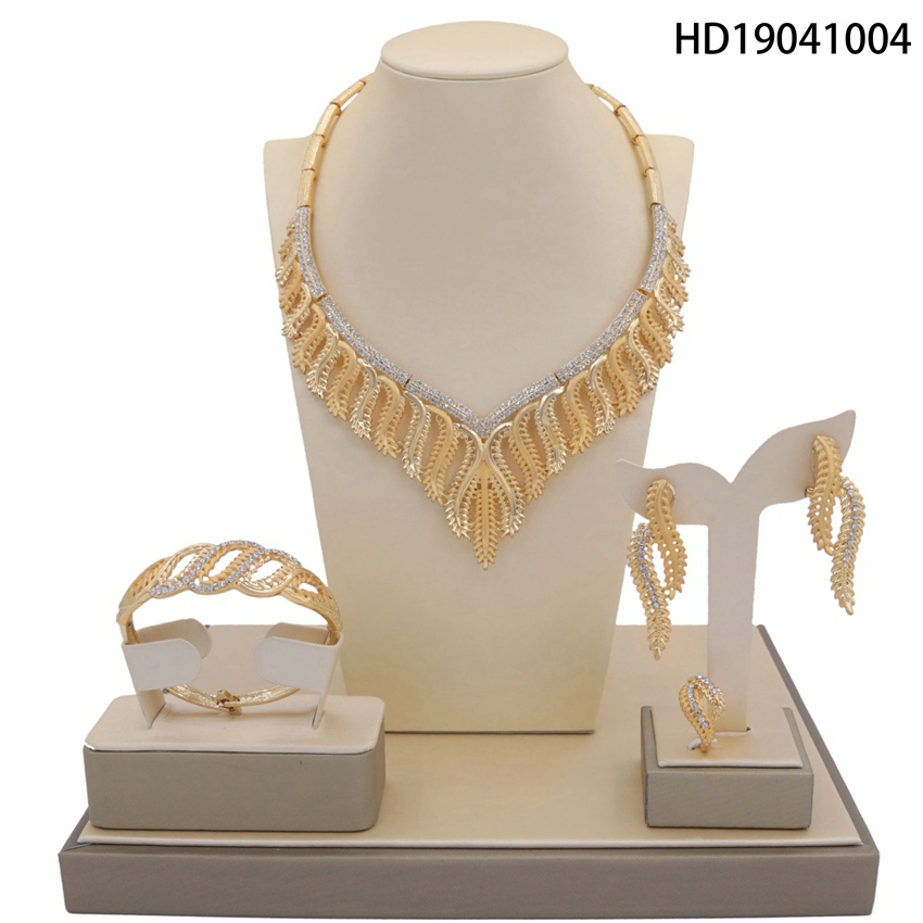 Yulaili Hot Sale Women Wedding Necklace Earrings Ring Bridal Jewelry Set Gold Silver Crystal Anniversary Gift Free Gift BoxYulaili Hot Sale Women Wedding Necklace Earrings Ring Bridal Jewelry Set Gold Silver Crystal Anniversary Gift Free Gift Box