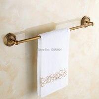 Antique Noble Romantic Bronze Finish Bathroom Towel Bar Single Towel Rack Wall Mounted Towel Shelf TR1006