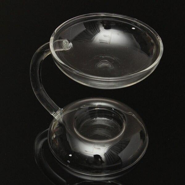 Арамис прозрачный стеклянный двухэтажный подсвечник с ручкой домашняя Бытовая поставка бытовой подсвечник