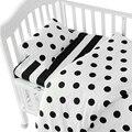3 Ins pçs/set roupa de cama berço, Beddingset baby (fronha + lençol + capa de edredon sem enchimento) terno para Berço de Tamanho Dentro de 130*70 cm