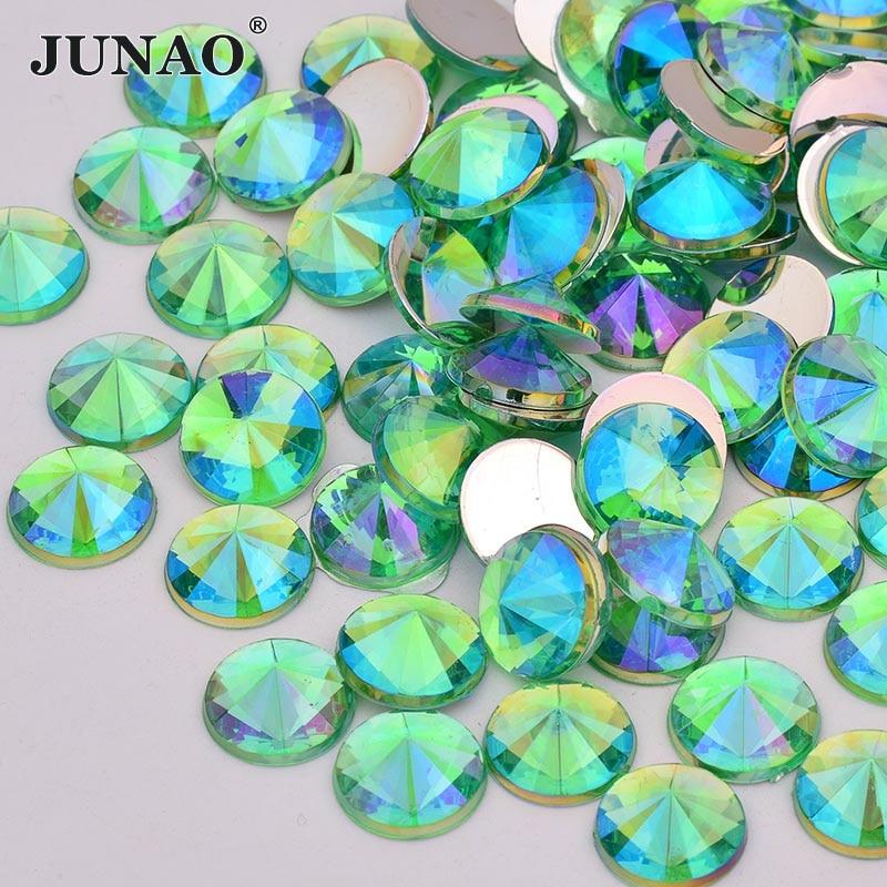 Ab3 20 piezas cosen on Diamante Botones Redondos Brillo Acrílico Cristal Strass