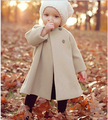 Autumn Winter Jackets For 2-8Yrs Baby Infant Girls Fleece Jackets Trench Outerwear Coats Woolen Cotton Warmer Trench Coats
