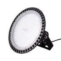 6 шт ультратонкий IP65 110 V 100 W НЛО светодиодный высокий Bay Завод Промышленных склад коммерческих освещения Водонепроницаемый лампы для освеще