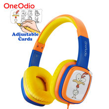 Oneodio DIY Painting Cards kids headphones Cute Cartoon Portable Wired Headset For Boys Girls Children Birthday Christmas Gifs(China)