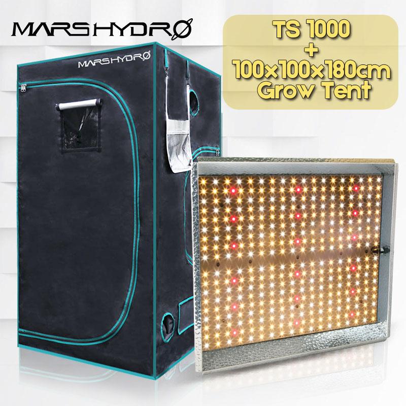 MarsHydro TS 1000 W espectro Completo de plantas de interior cresce a luz led e 100x100x180 cm Crescer tenda jardim hidroponia planta que cresce a luz