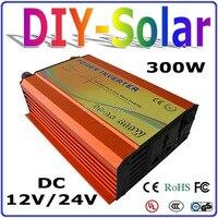 그리드 인버터에서 300 w  태양 광 및 풍력 시스템 용 순수 사인파 인버터 dc12v 또는 24 v ac 100/110/120/220/230/240 v