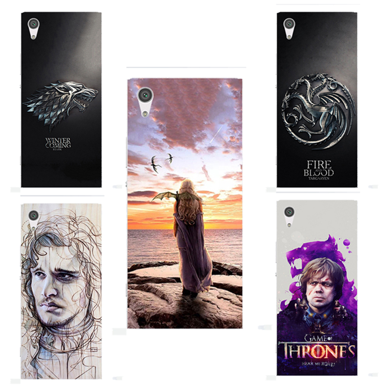 for Game of Thrones Drogon Soft Silicone Phone cover Case Fundas For Sony Xperia XA1 G3121 G3123 G3125 G3112 G3116 Sony Z6