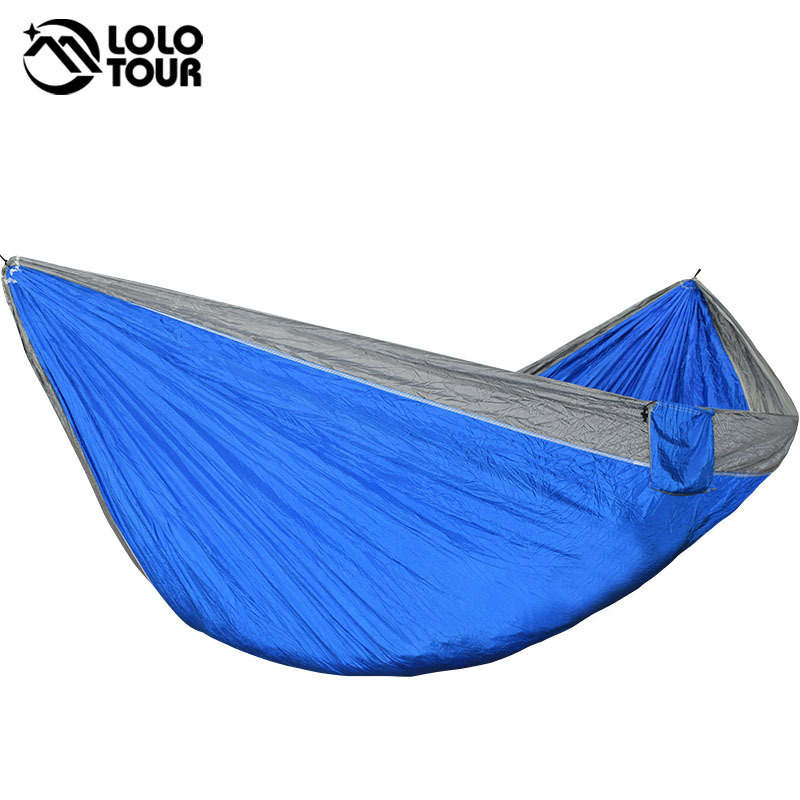Large Size 2 People Parachute Hammock Tent Portable Outdoor Survival Camping Garden Leisure Travel Rede Patio Furniture 2017 2 people hammock camping survival garden hunting travel double person portable parachute outdoor furniture sleeping bag