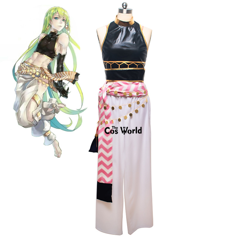 FGO Fate Grand Order Enkidu Tops Pants Uniform Outfit Anime Cosplay Costumes