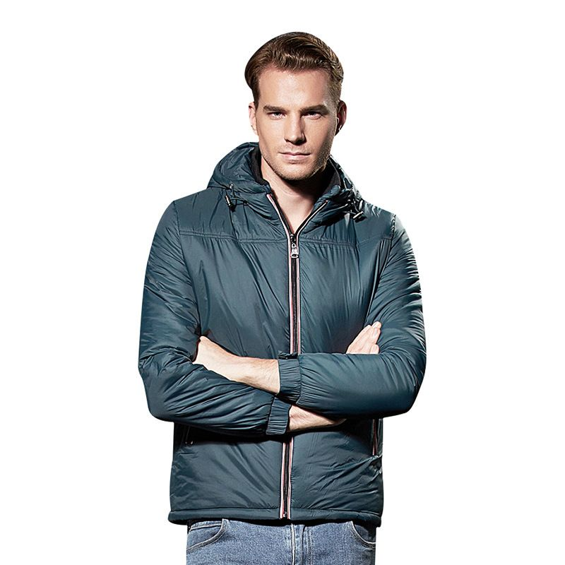 2017 Winter Male Thin Lightweight Down Hooded Parkas Coat Plus Size 3XL thermal Windbreaker jaqueta masculino 080304