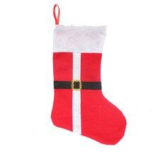 1 pcs Christmas decor party decorations Santa Claus Christmas stocking candy socks Christmas gifts bag