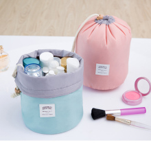 High Quality Barrel Shaped Travel Cosmetic Bag Makeup bag Nylon Wash Bags Makeup Organizer Storage Bag