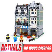 Lepin 2462Pcs City Street Green Grocer Model Building Kits Blocks Bricks Compatible Educational Toys 10185 Children