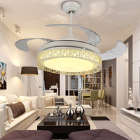 Modenr ceiling light fan remote control for Living room Bedroom Kitchen light Fixture ventilador de techo 42inch ceiling light