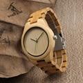 Bobo bird i27 reloj para hombre simple cara del dial verde segundo Naturaleza De Bambú mano Relogio Cuarzo de La Correa Reloj de Pulsera Como Regalo Aceptar personalizado